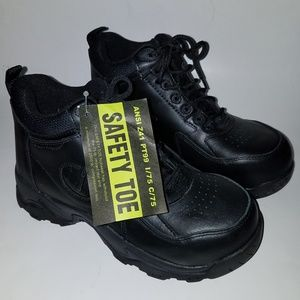 NEW Safety Toe Black Shoes Work Boot ANSI Z41 PT99